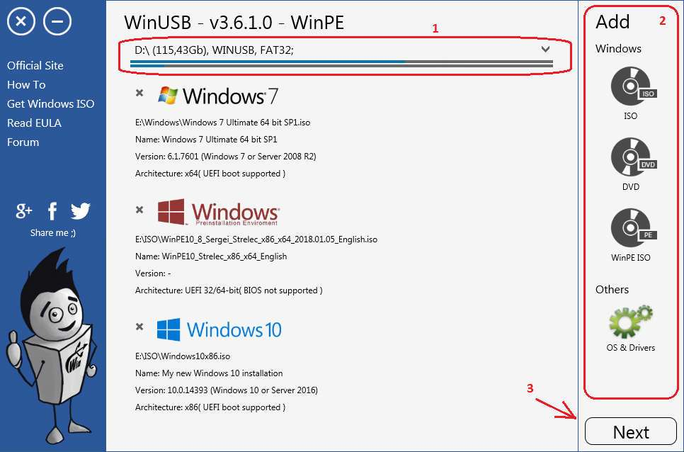 WinUSB - How to create Windows bootable USB in a few clicks