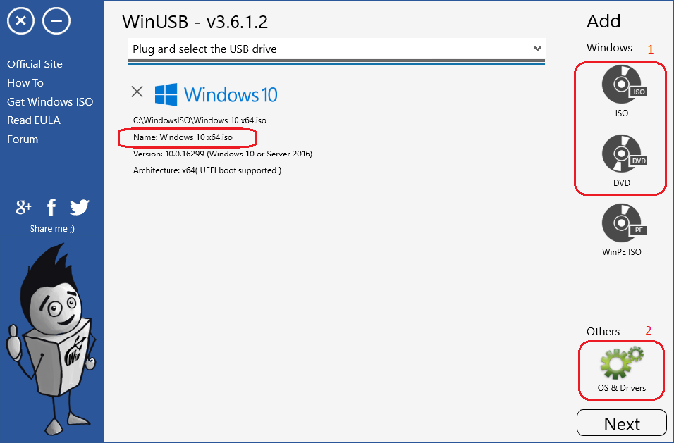 WinUSB - create bootable USB for Windows installation with