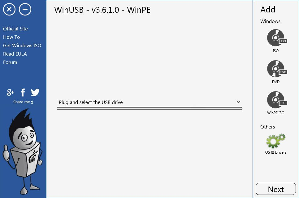 windows pe iso to usb